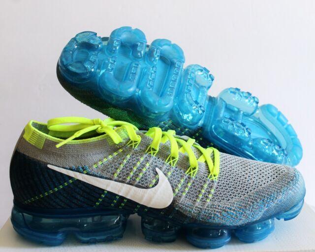 64e2a80088d3 Nike Air Vapormax Flyknit Spritie Grey Blue Green Men Running Shoes  849558-022 11