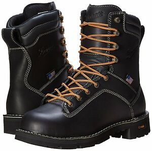 53041358bff Details about Danner Quarry 8 Inch Work Boots, Black, Steel & Soft Toe  (17309, 17311) US Made