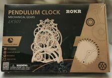 ROKR Pendulum Clock Mechanical Wooden Gear Puzzle Kit
