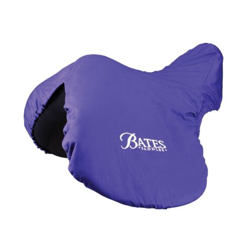 Bates Deluxe SADDLE COVER Fleece Lined Protection Purple GP Jump Dressage Pony