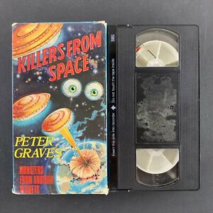 Killers-From-Space-Peter-Graves-1985-Scifi-VHS-Tape-Tested-Plays-Great