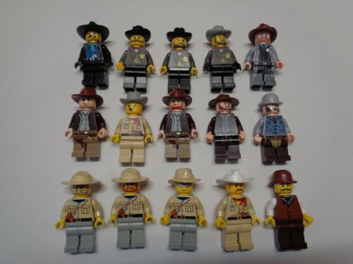 LEGO Personnage Figurine Minifig Western Cowboy Indiana Jones Choose Model