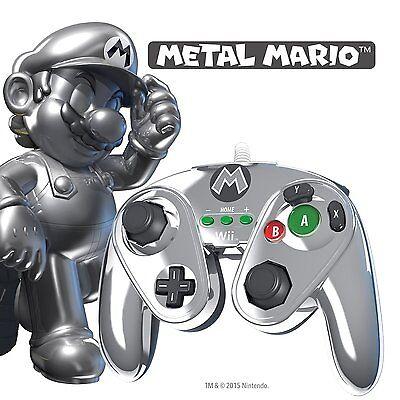 NINTENDO Wii & Wii U * NEW * METAL MARIO Super Fight Pad Controller