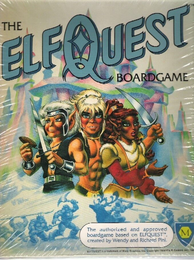 ElfQuest Board Game -mint -NIB - shrink FS