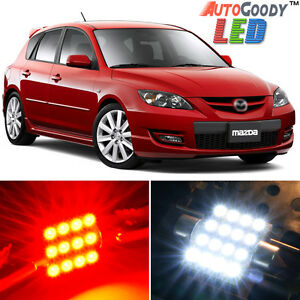 8-x-Premium-Red-LED-Lights-Interior-Package-Kit-for-2004-2009-Mazda-3