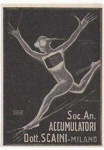 Pubblicita-vintage-BATTERIA-AUTO-SCAINI-MILANO-advert-reklame-werbung-publicite