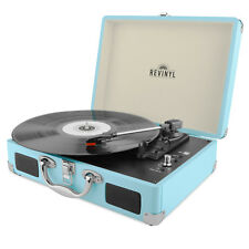 Revinyl Briefcase Record Player Suitcase Vinyl Turntable Bluetooth 3W Speakers