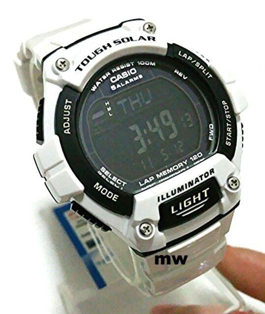CASIO MEN'S WATCH W-S220C-7BV SOLAR POWER World Time Lap Memory 5 Alarms Digital