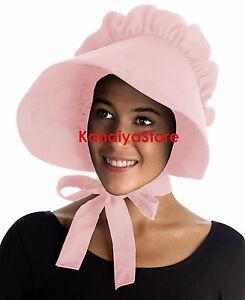 5b408da2d40 Pink - Adult Baby cotton Bonnet Hat Cap Sissy Pioneer Maid Victorian ...