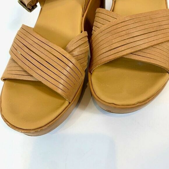 Korks Leather Wedge Martinique Strappy Sandals 7 - image 2