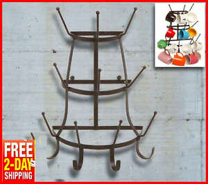 Image Is Loading Wall Mount Mug Rack Holder Coffee Cup Hook
