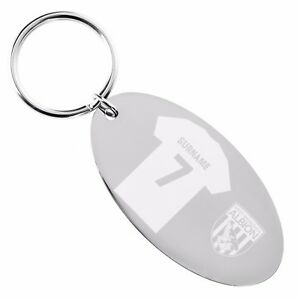 Personalised-Engraved-WEST-BROMWICH-ALBION-Football-FC-OVAL-KEYRING-Gift-Brom