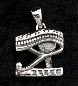 Ciondolo Occhio D' Horus Udjat-Ankh Argento 925-4.7g-bijoux egypte-W6 9978