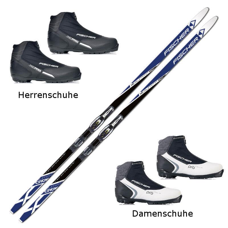 Langlaufski-Set Fischer SUMMIT CROWN + Bindung + Schuhe NEU
