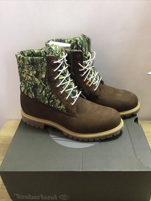 Timberland 6in Premium Waterproof Puffer Camo Mens Boots, Size UK 9.5 / EU 44