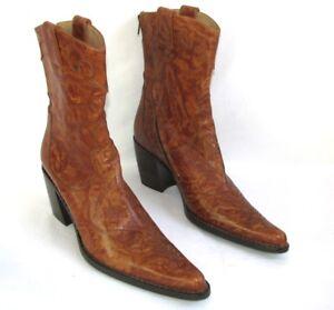 Neuf Free Marron Cuir Boots Nuancé 7 Lance Alma 40 Bottines CqwazxSC