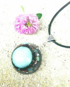 Orgone-Orgonite-pendant-Turquoise-Amethyst-Charoite-Shungite-energy-Unisex