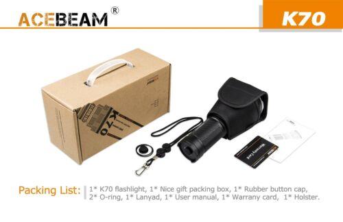 Acebeam K70 Flashlight XHP35 HI LED 2600Lm w// XTAR VC4 /& 4x 3500mAh Bat Bundle