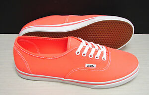 Image is loading Vans-Authentic-Lo-Pro-Neon-Coral-VN-0QES7N1-