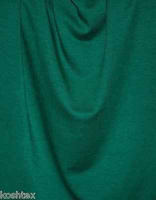 Emerald Green Micro Modal Spandex Fabric 4 Way Stretch Jersey Knit by Yard