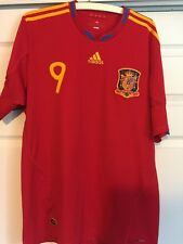 Adidas World Cup Espaina Spain Torres Soccer Futbol Jersey Adult XL Vguc 09/09