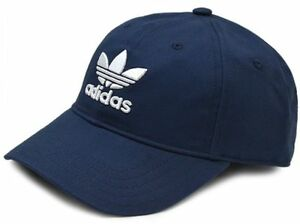 0836c2d368d6ca Image is loading ADIDAS-TREFOIL-CAP-Navy-White-strapback-embroidery-logo-