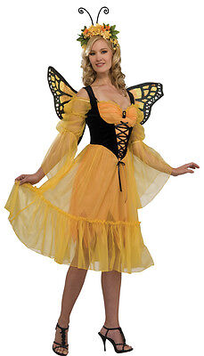 Monarch Butterfly Insect Animal Fantasy Dress Up Halloween Sexy Adult Costume