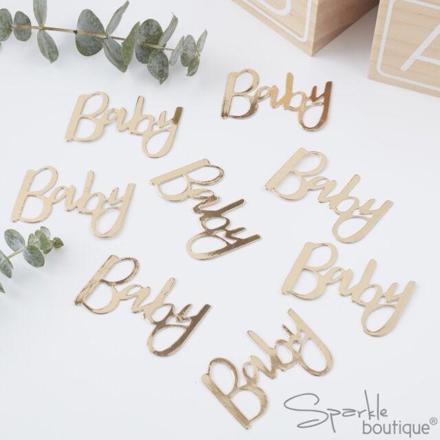 Baby Shower Coriandoli Tavolo-ORO METALLIZZATO-Sprinkles/decorazione-accessori per feste