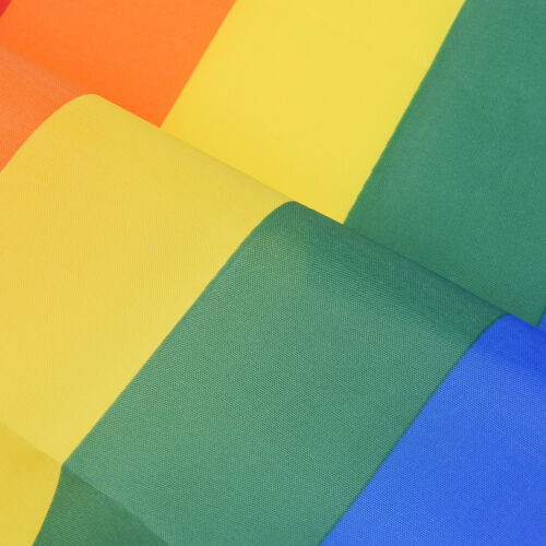 1pcs Rainbow Polyester Fabrics Flag Gay Pride Lesbian Peace LGBT With Grommets