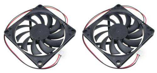USA LOT of 2 80x80x10mm 5v 0.25A 2 Pin 80mm Cooling Fan Computer Raspberry Pi