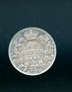 1899-Canada-Victoria-10-Cents-VG-CP294