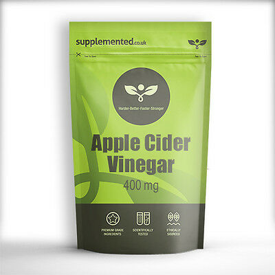 APPLE CIDER VINEGAR 400mg x 180 Capsules Weight Loss, Diet, Circulation