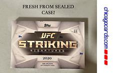 Topps UFC 2020 frappant signatures Boîte avec 1 encastrées autographe carte numérotée