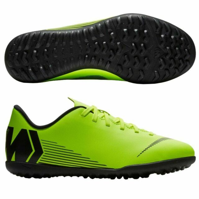 Deflector Rodeo Reportero  Nike Jr VaporX 12 Club GS Cr7 TF Astro Turf Trainers - Clearjade 6 for sale  | eBay