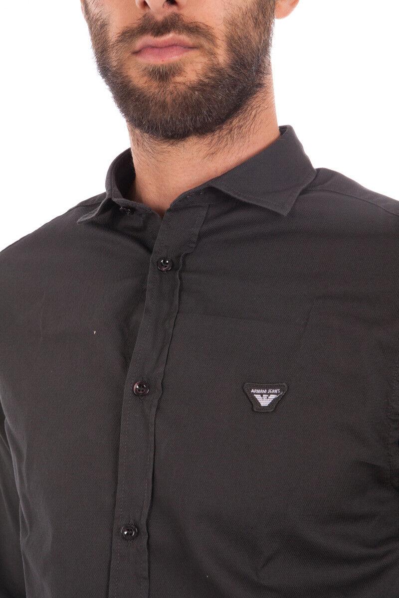 Camicia Armani Jeans AJ Shirt Cotone Uomo Grigio 6X6C746N07Z 1990 1990 1990 cf7f6e