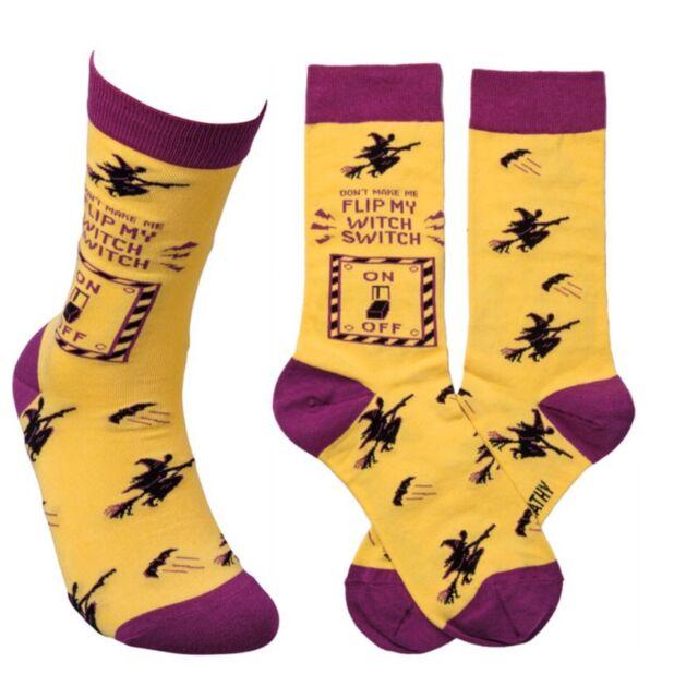 Socks Don't Flip My Witch Switch OS Women Ladies Novelty