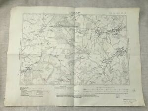 1910-Antik-Map-Of-Sussex-Roggen-Bestbeech-Hill-Tidebrook-Riseden-Alt-Original