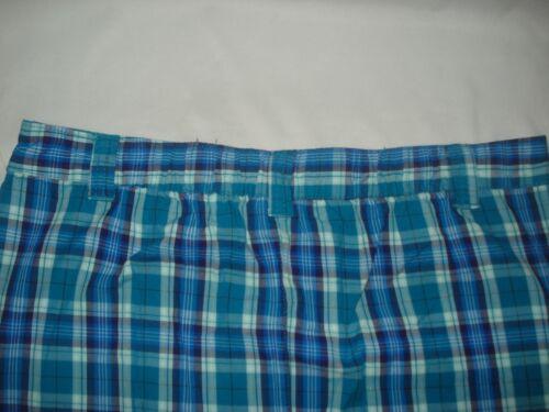 Basic Editions Womens Skirt Bottom Mid Length Plaid Cargo Purple Teal Brown NWT