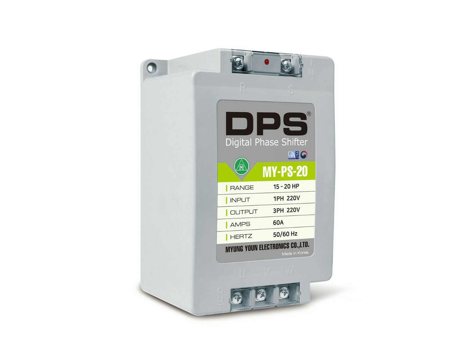 `1Phase to 3Phase Converter, MY-PS-20, Best for 15HP(11KW) 45 Amp 220-240V Motor