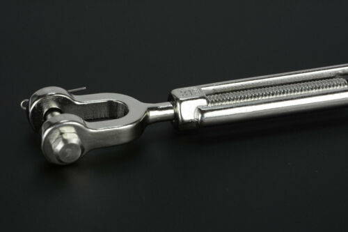 """5//16/"""" Jaw and Jaw Turnbuckle Open Body 316 Stainless Steel Sailboat Rigging 5PCS"""