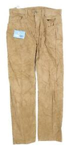 Marks-amp-Spencer-Mens-Brown-Corduroy-Trousers-Size-W32-L29