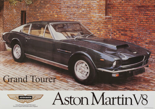 Aston Martin V8 Vantage 1977 Vintage Showroom Advertising Picture Poster A1 A3