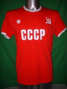 e8cd2f3e6de Russia CCCP S M L XL Football Shirt New Jersey Soccer Fan USSR Top ...