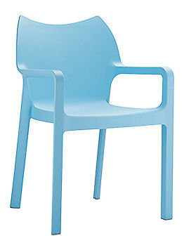 Stuhl Diva hellblau Esszimmerstuhl Gartenstuhl stapelbar Küchenstuhl Stapelstuhl