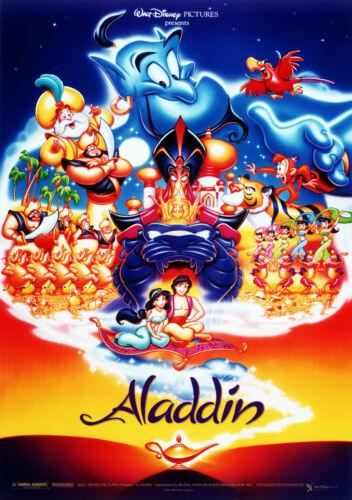 Aladdin Vintage Movie Giant Poster A0 A1 A2 A3 A4 Sizes