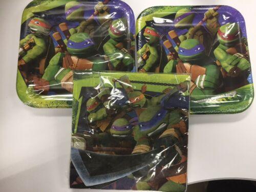 16 count Napkins TMNT Teenage Mutant Ninja Turtles Plates 8 Count and 1 2