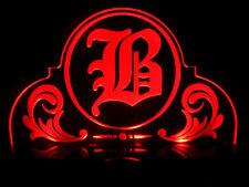 Old English Letter Alphabet Word B Acrylic Led Lamp Night Light Vintage Stlye