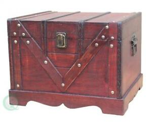 Wooden Treasure Box Old Style Treasure Chest Large