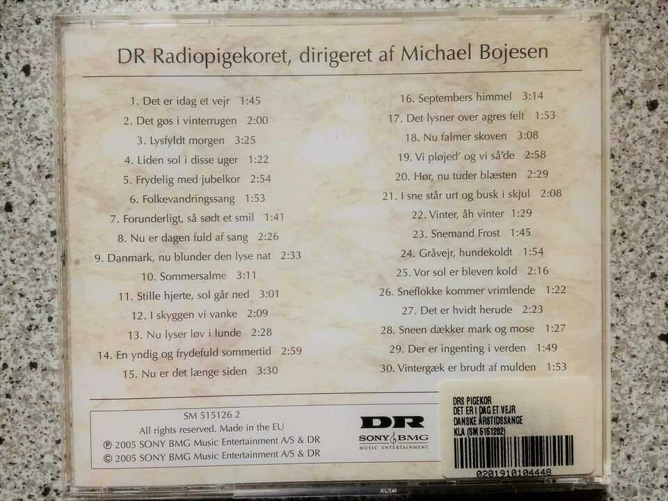 Danmarks Radiopigekoret: Det er idag et vejr, pop