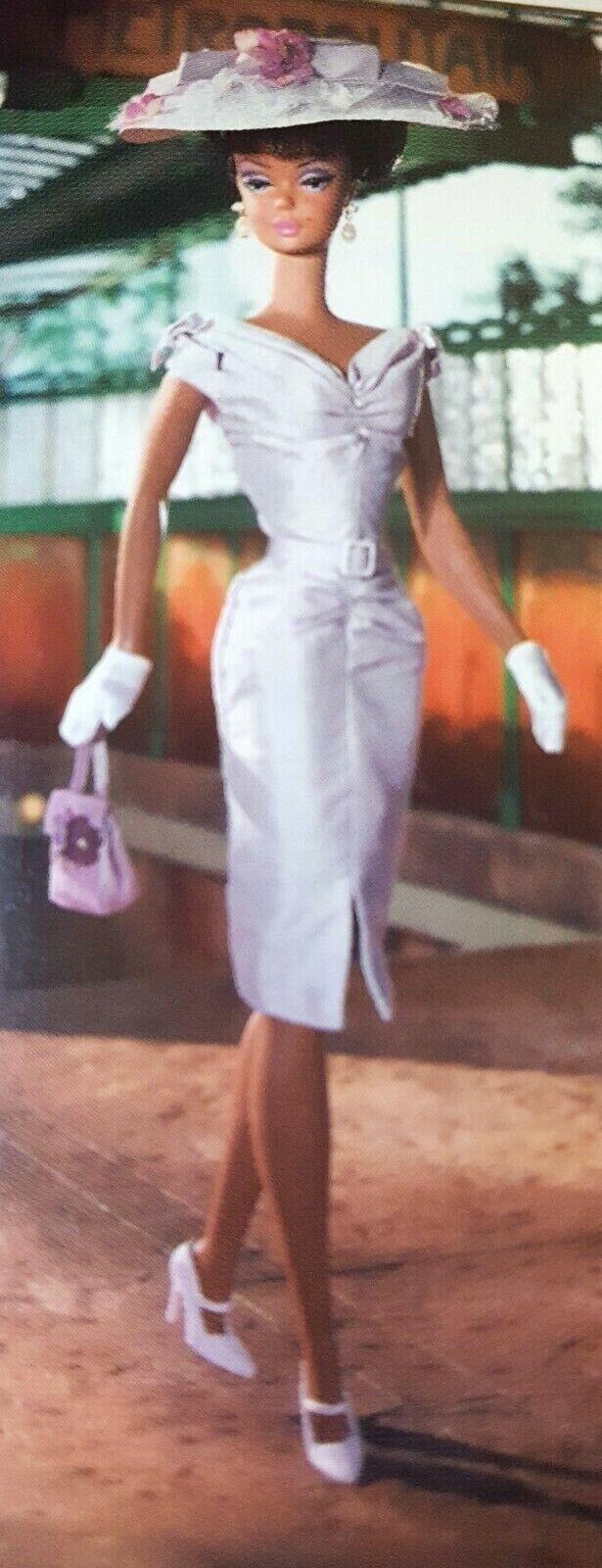 Barbie Silkstone  domingo mejor  nunca quitado de la Caja 2003 Vestido Tubo púrpura shantung